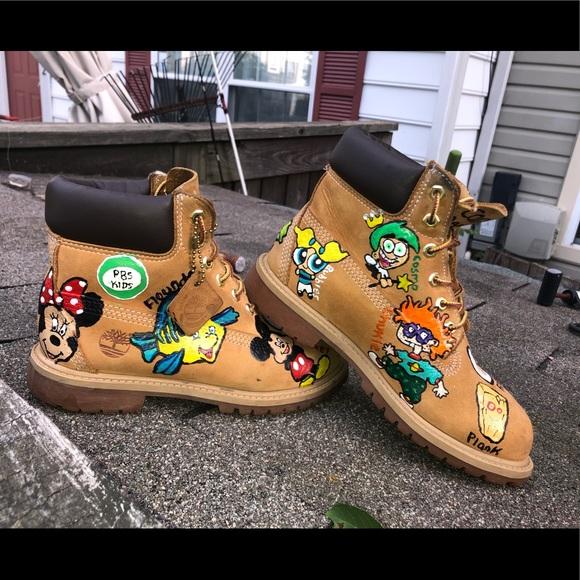 Custom cartoon shoes